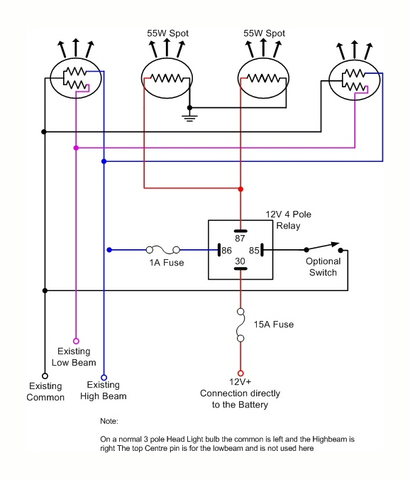 wiring diagram rear spotlight wiring diagram for spotlight relay