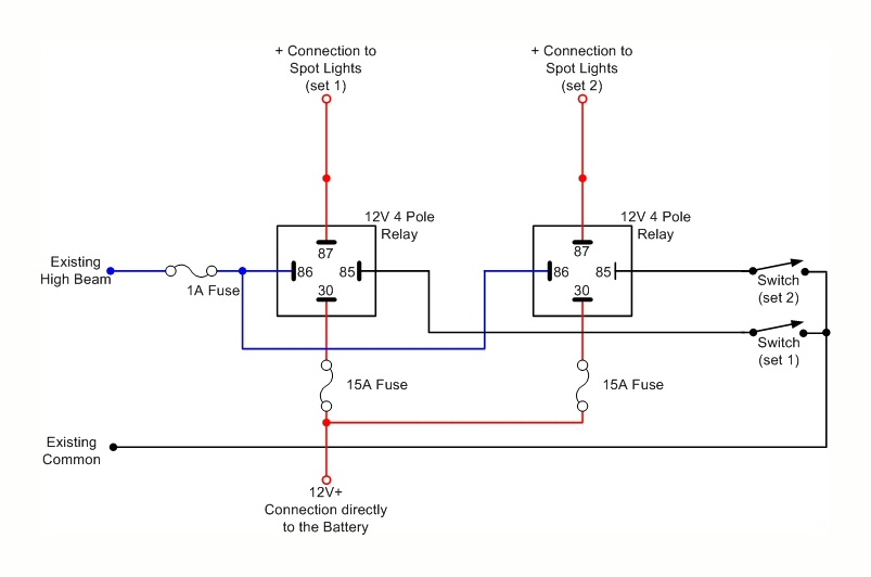 12v car spotlight wiring diagram